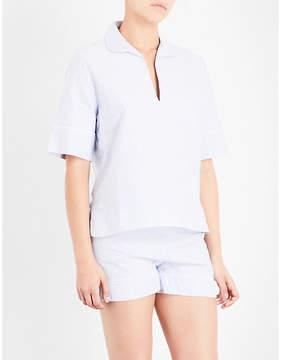 Bodas Striped cotton pyjama top