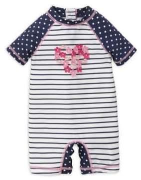 Little Me Baby Girls' One-Piece Rash Guard Swimsuit