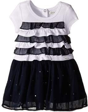 Ikks Dress with Ruffled Top & Chiffon Skirt with Rhinestones (Infant/Toddler)