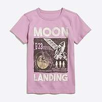 J.Crew Factory Boys' short-sleeve glow-in-the-dark moon landing graphic T-shirt