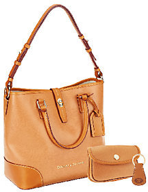 Dooney & Bourke As Is Embossed Pebble Leather Shelby Shopper - ONE COLOR - STYLE
