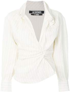 Jacquemus striped ruched shirt