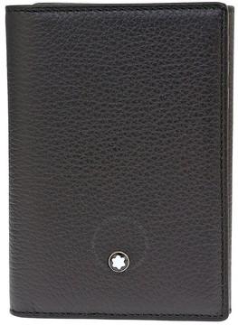 Montblanc Meisterstuck Soft Grain Trifold Card Holder Wallet - Black