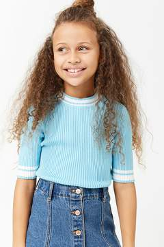 Forever 21 Girls Ribbed Sweater-Knit Top (Kids)