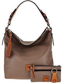 Dooney & Bourke Smooth Leather Hobo with Accessories - ONE COLOR - STYLE