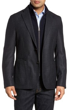 Kroon Men's Jones Aim Hybrid Classic Fit Check Wool Sport Coat