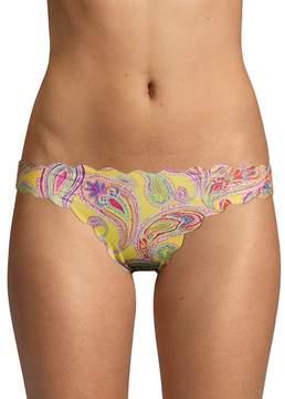 Pilyq Women's Reversible Seamless Paisley-Print Bikini Bottom