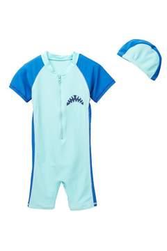 Trunks Envya Swimwear Shark On My Back Sunsuit Swimsuit (Baby & Toddler Boys)