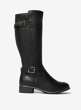 Dorothy Perkins Wide Fit Black 'Trinity' Boots