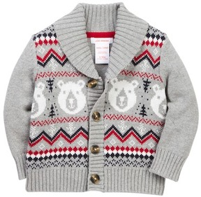 Joe Fresh Fair Isle Knit Cardigan (Baby Boys)
