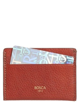 Bosca Men's Leather Card Case - Brown