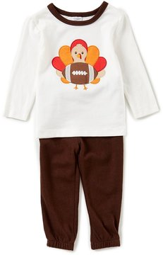 Starting Out Baby Boys 12-24 Months Thanksgiving Turkey Football Top & Pull-On Pants Set