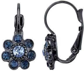 1928 Blue Flower Drop Earrings