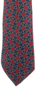Hermes The Horsebit Star Silk Tie