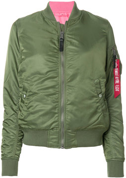 Alpha Industries zip tab detail bomber jacket