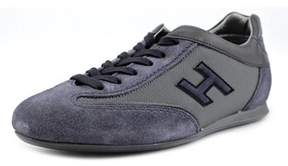Hogan Olympia Uomo Slash H Flock Youth Suede Blue Fashion Sneakers.