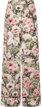 Fleur Du Mal Floral-print Silk-crepe Pajama Pants - Baby pink