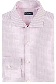 Finamore Men's Checked Cotton Poplin Dress Shirt