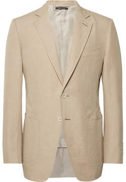 Tom Ford Sand O'connor Slim-Fit Linen And Silk-Blend Suit Jacket