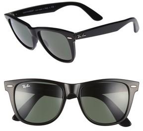 Ray-Ban Men's Classic Wayfarer 54Mm Sunglasses - Black/ Green