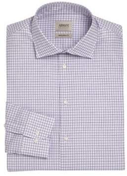 Giorgio Armani Box Check Dress Shirt