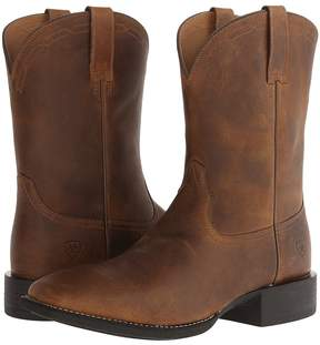 Ariat Heritage Roper Wide Square Toe Cowboy Boots