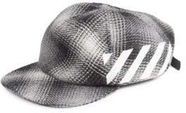 Off-White Diagonal Check Cap