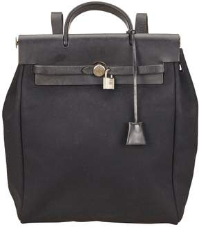 Hermes Herbag cloth backpack - BLACK - STYLE