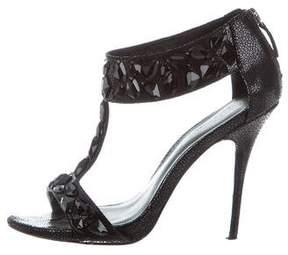 Elizabeth and James Embellished T-Strap Sandals