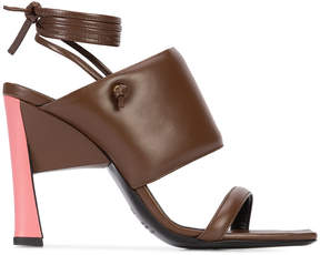 Marni tie ankle sandals