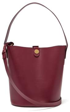 Sophie Hulme Large Swing Leather Bucket Bag - Womens - Burgundy