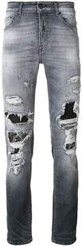 Marcelo Burlon County of Milan distressed patch jeans