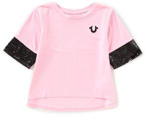 True Religion Big Girls 7-16 Sequin Short Sleeve Tee
