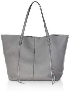 Rebecca Minkoff Medium Unlined Leather Tote - GREY - STYLE