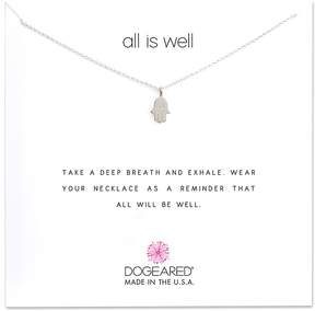 Dogeared All is Well Hamsa Reminder Necklace Necklace
