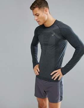 Asics Running Seamless Compression Long Sleeve Top In Black 134605-0904