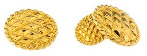 Chanel Quilted Cufflinks