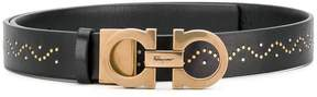Salvatore Ferragamo double Gancio studded belt