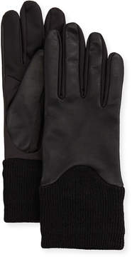 Neiman Marcus Metisse Leather-Upper Smart Gloves