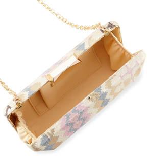 Neiman Marcus Ikat Fabric Box Clutch Bag