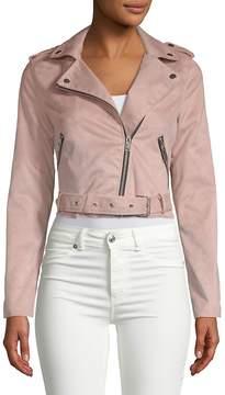 C&C California Women's Zip Belted Jacket