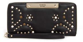 GUESS Britta Studded Zip-Around Wallet
