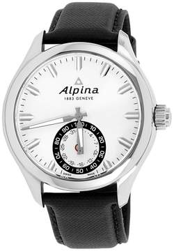 Alpina Horological Smartwatch AL285S5AQ6 Stainless Steel & Leather Quartz 44mm Mens Watch