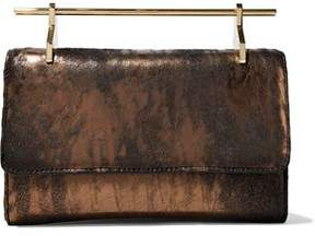 M2Malletier Patent-Leather Clutch Bag