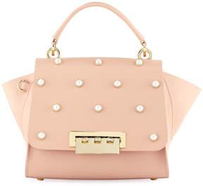 Zac Posen Eartha Iconic Pearly Crossbody Top-Handle Bag, Light Pastel Pink