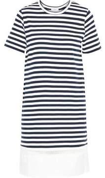 Clu Poplin-Paneled Striped Cotton-Jersey Dress