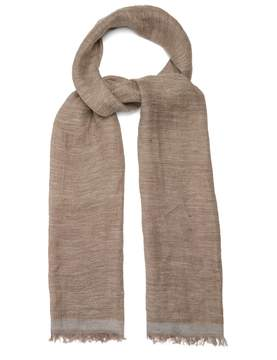 Brunello Cucinelli Lightweight linen-blend scarf