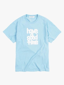 Have A Good Time Fat Logo S/S T-Shirt - Light Blue