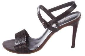 Bottega Veneta Leather Intrecciato Sandals