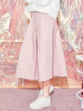 Blank Maxi Flared Skirt-Pk